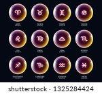 set of vector zodiac icons in... | Shutterstock .eps vector #1325284424
