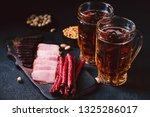 beer snacks. bar table....   Shutterstock . vector #1325286017