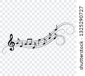 music notes and symbols ... | Shutterstock .eps vector #1325290727