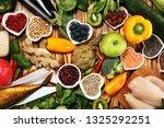 healthy food clean eating... | Shutterstock . vector #1325292251