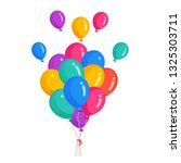 bunch of helium balloon  flying ... | Shutterstock .eps vector #1325303711