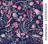 floral seamless pattern. hand... | Shutterstock .eps vector #1325307224
