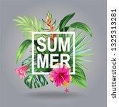 tropical hawaiian flyer with...   Shutterstock .eps vector #1325313281