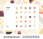 simple color award icon set.... | Shutterstock .eps vector #1325325341