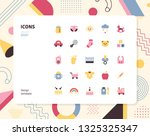 simple color baby icon set.... | Shutterstock .eps vector #1325325347