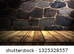 empty wooden table background | Shutterstock . vector #1325328557