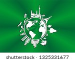 globe design vector atlas... | Shutterstock .eps vector #1325331677