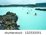 People Bathing In The Blue...