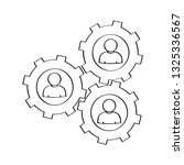 outline of a people in a gear.... | Shutterstock .eps vector #1325336567