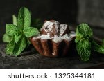 homemade chocolate cake with... | Shutterstock . vector #1325344181