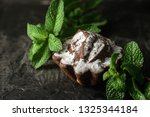 homemade chocolate cake with... | Shutterstock . vector #1325344184