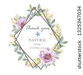 handpainted vintage floral... | Shutterstock . vector #1325347034