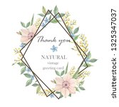 handpainted vintage floral... | Shutterstock . vector #1325347037