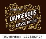 victorian decorative badges... | Shutterstock .eps vector #1325383427