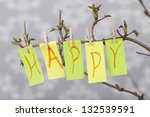 happy easter and spring concept ...   Shutterstock . vector #132539591