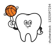 cartoon tooth character...   Shutterstock .eps vector #1325397254