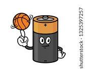 cartoon battery character...   Shutterstock .eps vector #1325397257