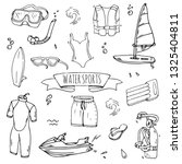 hand drawn doodle water sports...   Shutterstock .eps vector #1325404811