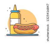 hotdog vector icon illustration ...   Shutterstock .eps vector #1325416847