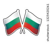 two crossed bulgaria flags pins ... | Shutterstock .eps vector #1325420261