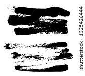 set of black ink hand drawn... | Shutterstock .eps vector #1325426444