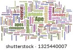 ape word cloud randomised... | Shutterstock . vector #1325440007
