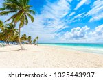 paradise beach  also known for... | Shutterstock . vector #1325443937