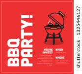barbeque party invitation... | Shutterstock .eps vector #1325446127