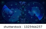 detailed military radar with... | Shutterstock .eps vector #1325466257