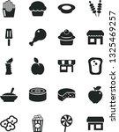 solid black vector icon set  ... | Shutterstock .eps vector #1325469257