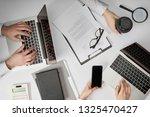 top view of businesspeople... | Shutterstock . vector #1325470427