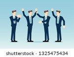 business team celebrating | Shutterstock .eps vector #1325475434