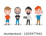 people tech device   Shutterstock .eps vector #1325477441
