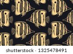 seamless vector pattern with ... | Shutterstock .eps vector #1325478491