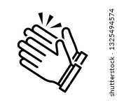 clapping hand icon vector eps 10 | Shutterstock .eps vector #1325494574