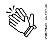 clapping hand icon vector eps 10 | Shutterstock .eps vector #1325494601