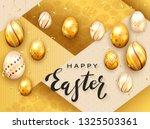 black lettering happy easter... | Shutterstock . vector #1325503361