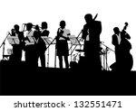 vector drawing jazz musicians... | Shutterstock .eps vector #132551471