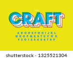 vector of stylized modern font... | Shutterstock .eps vector #1325521304