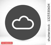 cloud vector icon 10 eps