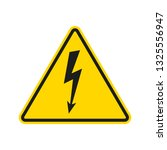 electrical hazard sign with... | Shutterstock .eps vector #1325556947