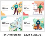 set of website template designs....