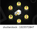 characters around the safe ... | Shutterstock .eps vector #1325572847