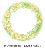 vector  floral  circle  frame.... | Shutterstock .eps vector #1325576537