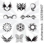 tribal vector set | Shutterstock .eps vector #132558437