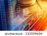 financial data on a monitor.... | Shutterstock . vector #132559634