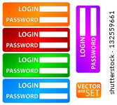 form set login and password.... | Shutterstock .eps vector #132559661