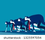 business people lined up... | Shutterstock .eps vector #1325597054
