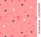 love seamless pattern. hearts ...   Shutterstock .eps vector #1325605454