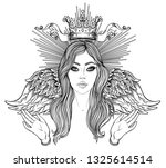 madonna  lady of sorrow.... | Shutterstock .eps vector #1325614514